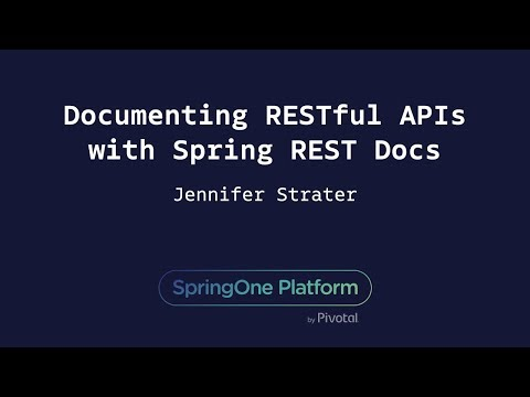Documenting RESTful APIs with Spring REST Docs - Jenn Strater