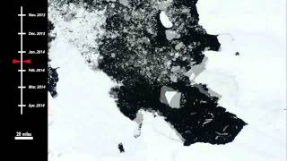 Gargantuan Iceberg -- 8X Manhattan-Size -- Has Left Glacier | Time-Lapse Video