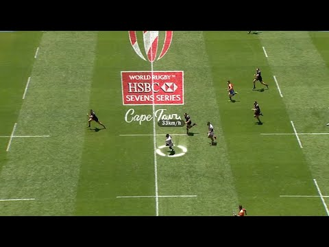 Carlin Isles hits 37 km/h at the Cape Town 7s