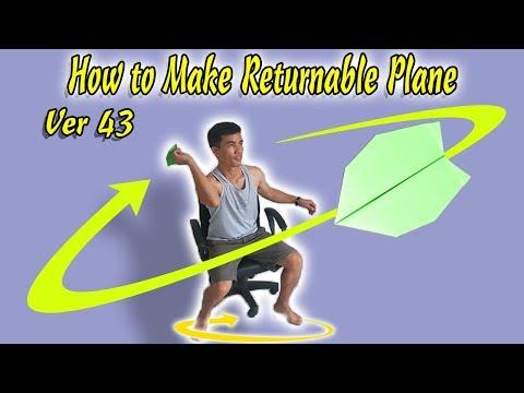 Cách Gấp Máy Bay Boomerang Ver 43,  Boomerang Paper AirPlane #BoomerangPlane