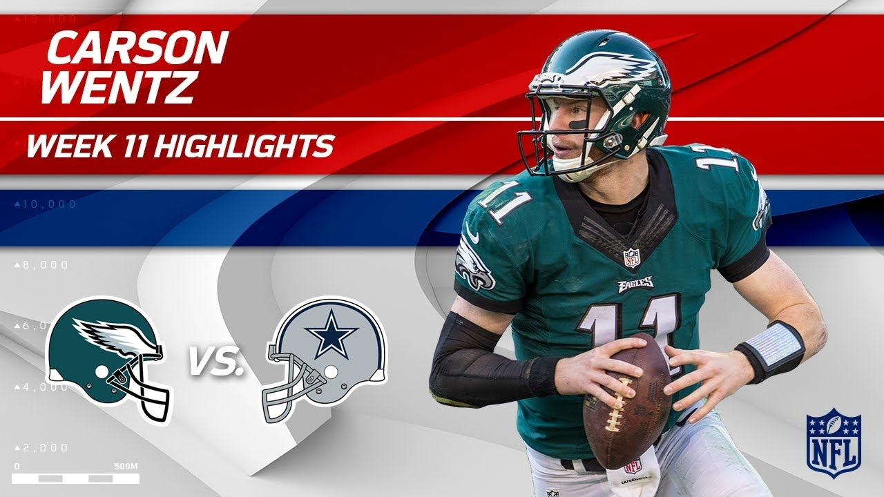 hot sale online 5d4ed c467f Carson Wentz Leads Philly to Victory vs. Dallas! | Eagles vs. Cowboys | Wk  11 Player Highlights
