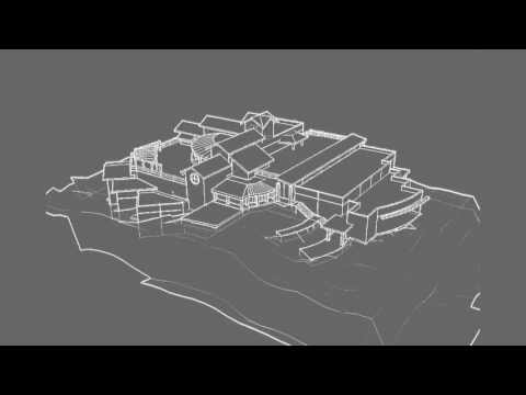 1 Liquid House Wireframe Model Flyover