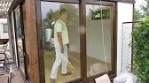 Алюминиевая дверь гармошка Алютех - YouTube