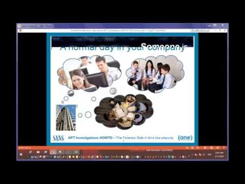 SANS DFIR Webcast - APT Investigations -- How To The Forensic Side