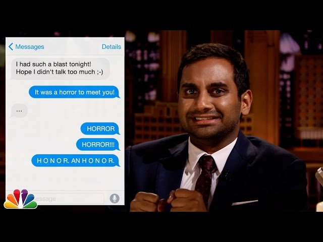Aziz ansari on dating today sayings