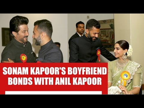 Sonam Kapoor's boyfriend Anand Ahuja bonds with Anil Kapoor at the National Film Awards