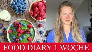 WAS ICH IN 1 WOCHE ESSE  |  ROH VEGAN  |  FOOD DIARY