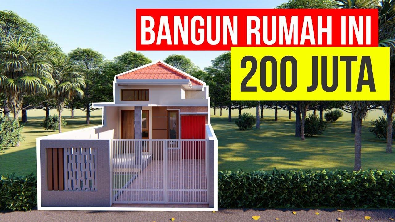 Bangun Rumah Minimalis 200 Juta Desain Rumah Minimalis 5x19 Meter Youtube