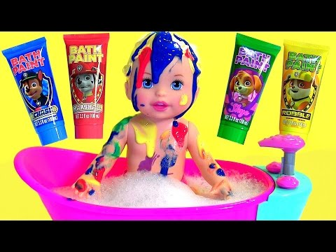 Thumbnail: Little Mommy Bubbly Bathtime Color Changing Baby Doll with Bath Paint Paw Patrol by Disney Collector