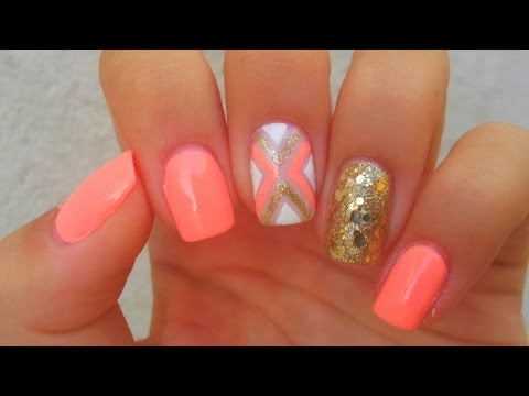 Striping Tape Nail Art Tutorial Easy Nail Design Youtube