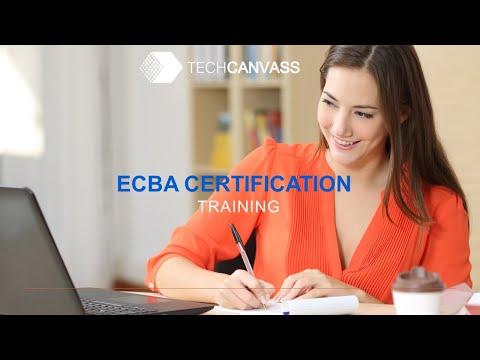 Business Analyst Certification Training (ECBA) - Session I