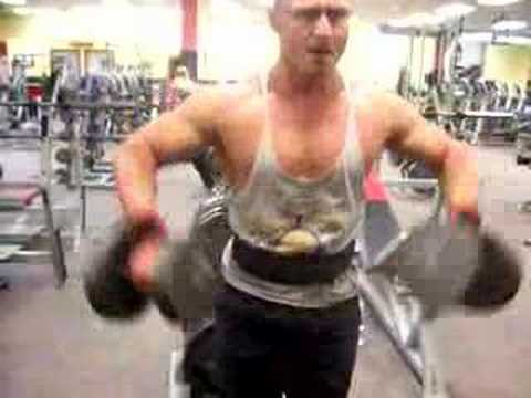 DB upright row for shoulders