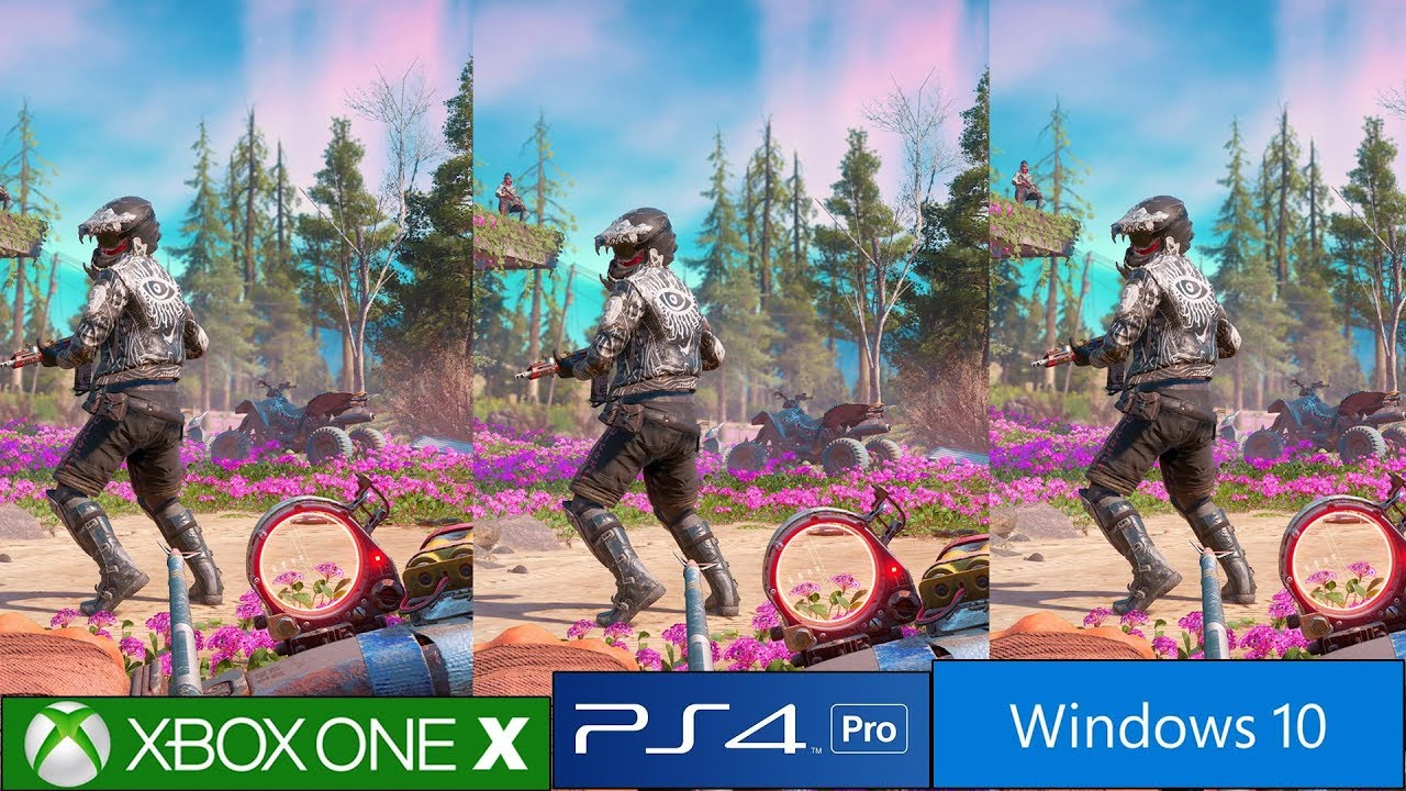 Far Cry New Dawn Ps4 Pro Vs Xbox One X Vs Pc Graphics Comparison
