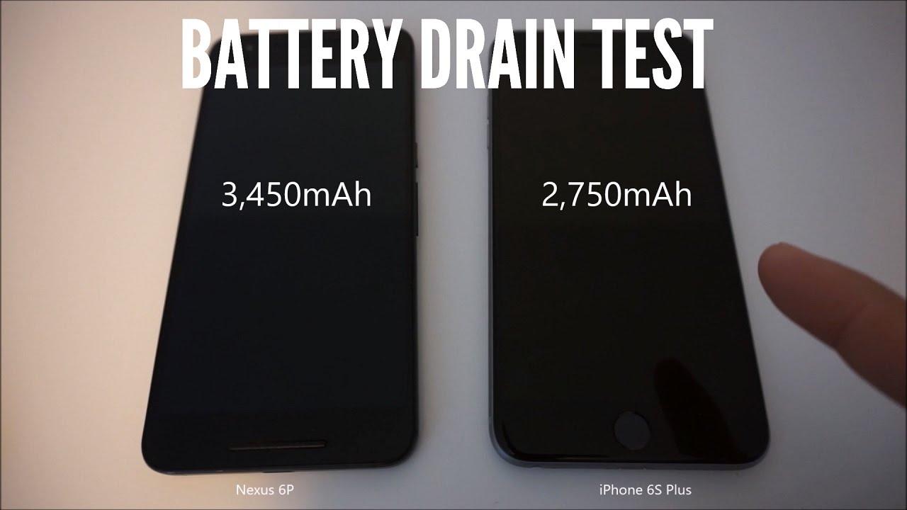 Battery Drain Test : Nexus p vs iphone s plus battery drain test youtube