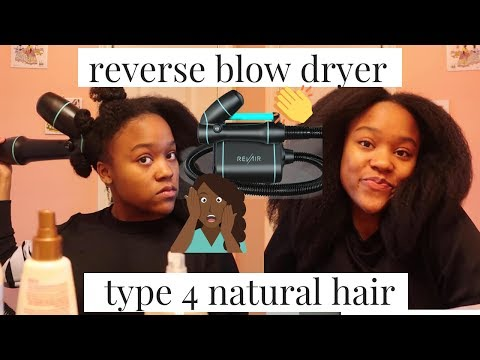 RevAir Reverse Hair Dryer Review 😱| Type 4 Natural Hair