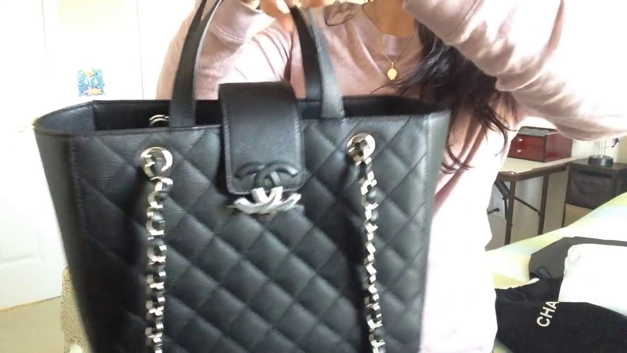 26c3b1ab9331 Chanel CC BOX small shopping tote - YouTube
