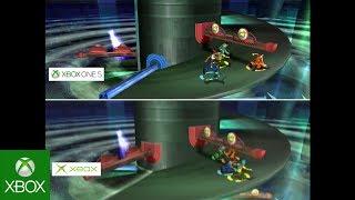 Fuzion Frenzy - Graphics Comparison: Original Xbox vs. Xbox One S