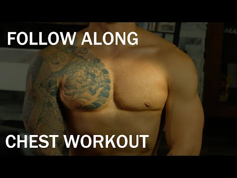 7 Min || Follow Along Chest Workout || No equipment