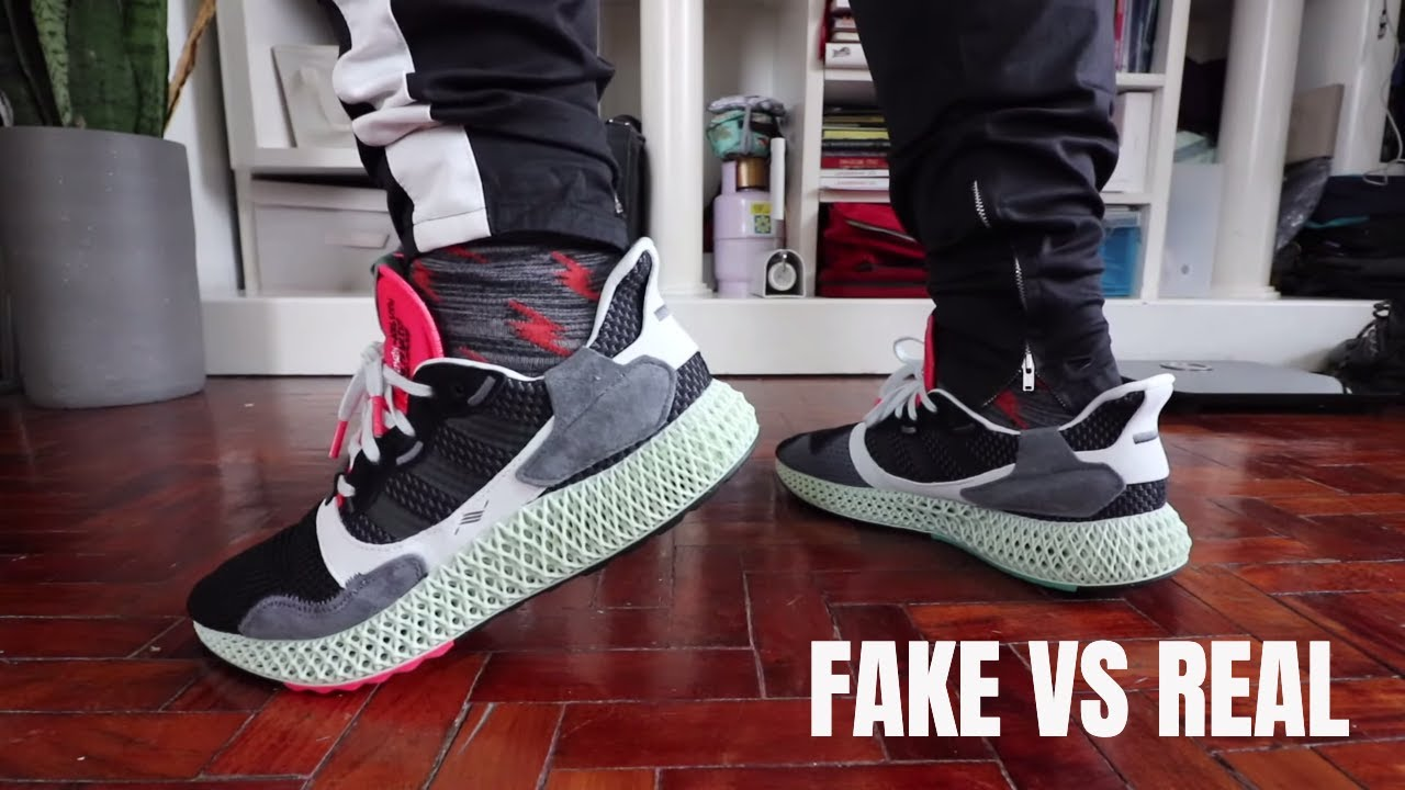 Watch: Fake vs Real adidas ZX 4000 4D Comparison - Unpacked