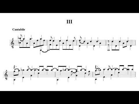 Carlo Domeniconi - Koyunbaba, Suite for Guitar Op. 19 (Score video)