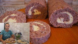 Закусочный рулет из фасоли с грецким орехом и плавленым сырком Рецепт рулета