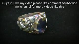 Handmade [blue sapphire men's silver ring]