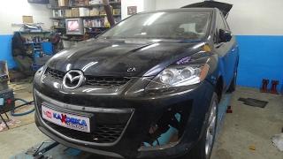 Mazda CX-7. рихтовка.  пайка оловом. ФИНИШ.