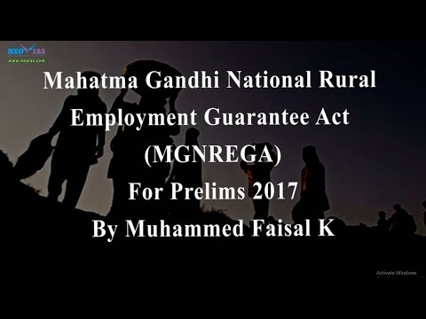 MGNREGA | Prelims 2017 Current Affairs | Government Schemes | NEO IAS
