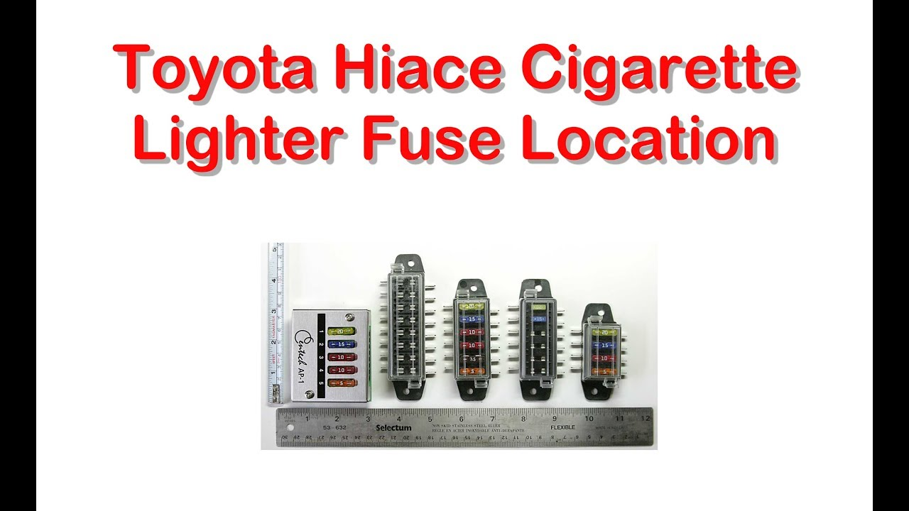 maxresdefault Where Is Fuse Box On Toyota Hiace on