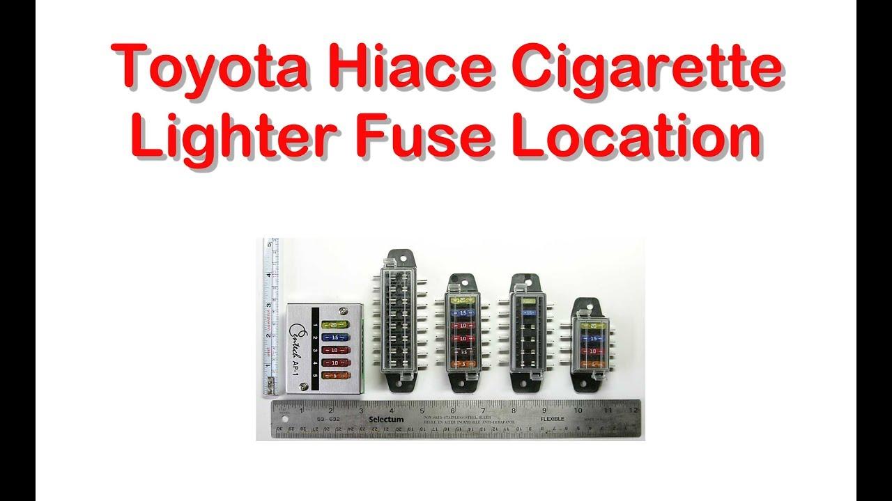 fuse box on toyota hiace