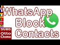 Hoe blokkeer je iemand op WhatsApp?