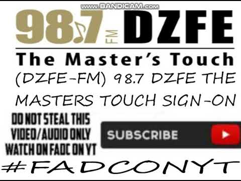(DZFE-FM) 98.7 DZFE THE MASTER'S TOUCH SIGN-ON