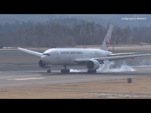 福島空港 Japan Airlines (JAL) Boeing 777-200ER JA705J 2017.3.18