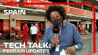 Analysing Ferrari's Updates | F1 TV Tech Talk | 2021 Spanish Grand Prix