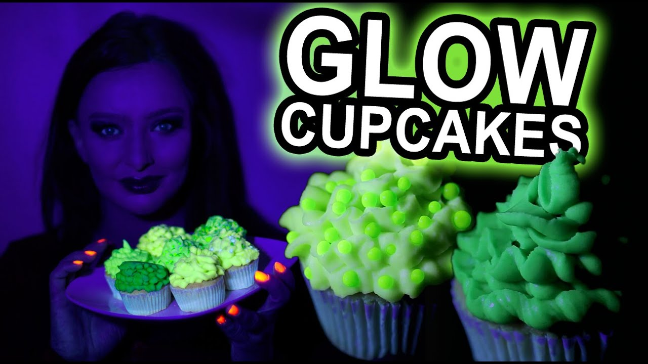 How To Make Green Glow In The Dark Cupcakes Uv Reactive Diy