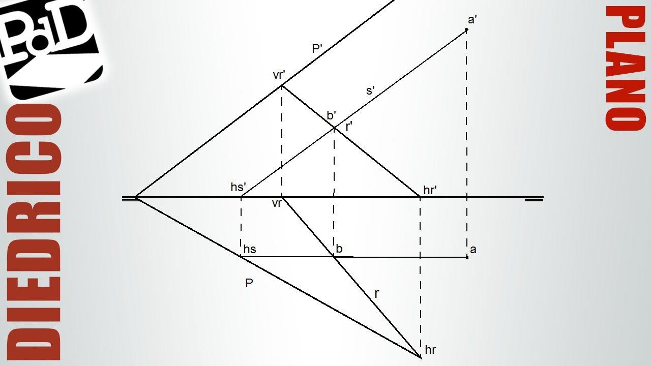 Plano definido por una recta y un punto sistema di drico for Hacer planos en linea