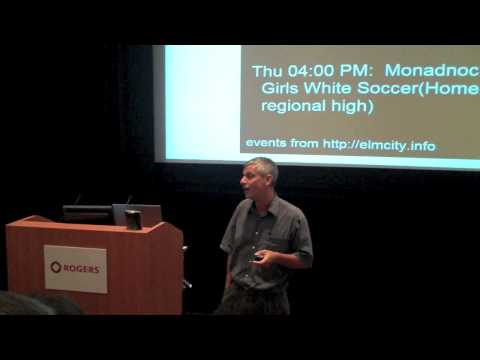 DemoCamp Toronto 21 - Jon Udell - Part 1/2