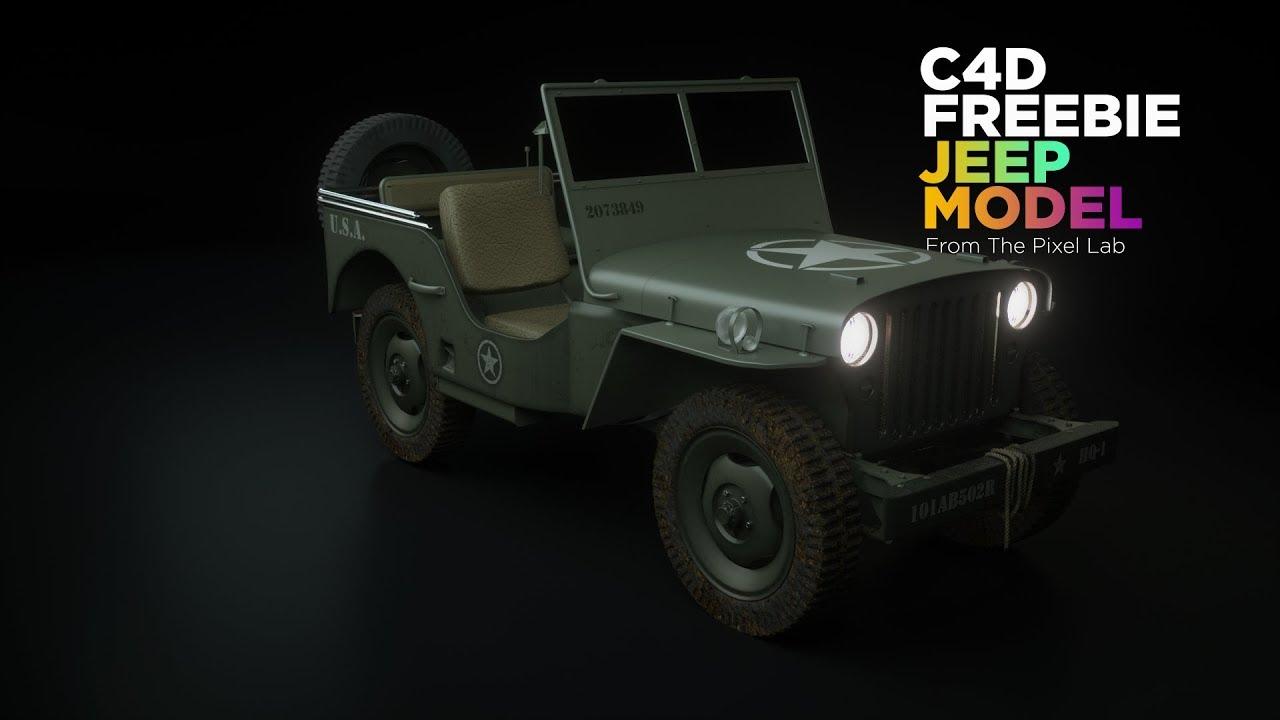 Free Cinema 4D 3D Model: Jeep