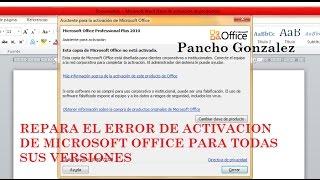 Error de activación de Microsoft Office Word (2017)