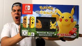 UNBOXING NINTENDO SWITCH POKEMON LET´S GO Pikachu edition 🎮