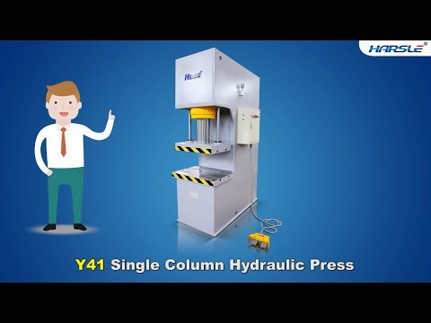 Y41-100T single column hydraulic press machine, C Frame type hydraulic punching machine