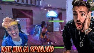 MEINE ERSTE RUNDE AUF DEM PC mit NINJA SETTINGS 😱💎 Fortnite Battle Royale WakezGaming (Deutsch)