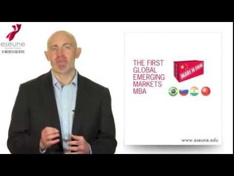 Global Emerging Markets MBA gemMBA ESEUNE Business School