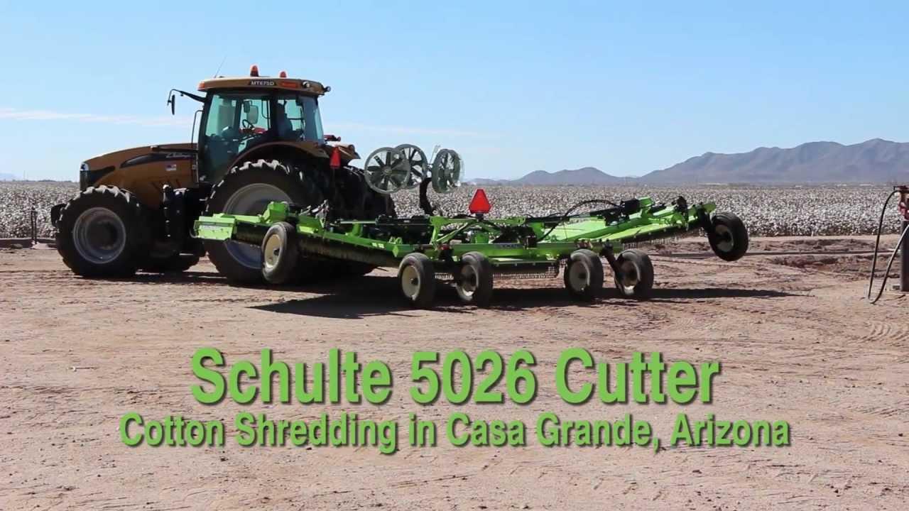 Schulte 5026 26' Rotary Cutter Shredding Cotton Residue Near Casa Grande  Arizona Long Version