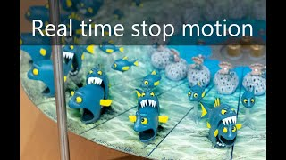 4-Mation carousel 2: Fish eating Fish - a 3D Zoetrope