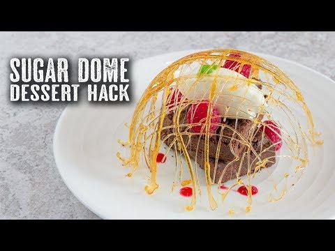 5 Minute Sugar Dome Dessert Hack - Topless Baker