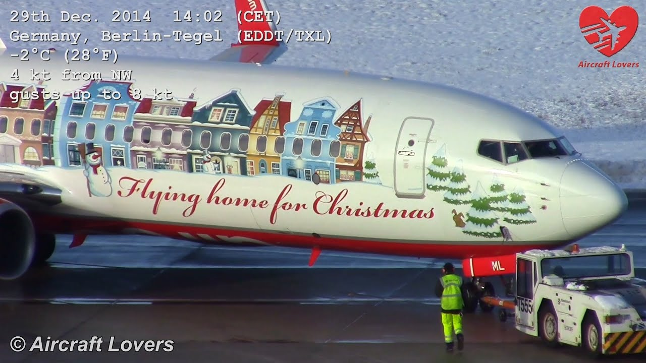 Flying Home For Christmas 2014 - Air Berlin Boeing 737 ...