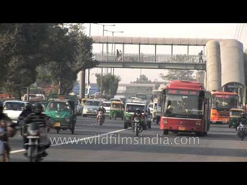 Airport road near South Delhi