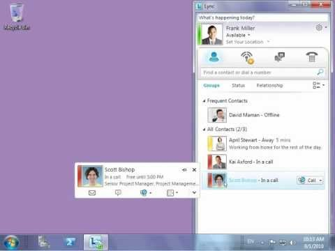 Microsoft Lync - Instant Messaging & Presence Management