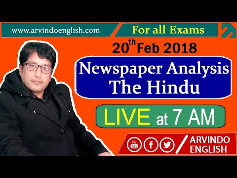 The Hindu ll Daily News and Analysis ll 20 Feb 2018